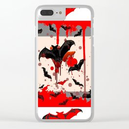 FREAKING HALLOWEEN BLOODY BAT PARTY Clear iPhone Case