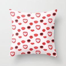 Pretty Lips Pattern Throw Pillow