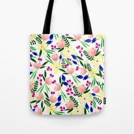 Tropical Flowers Tote Bag