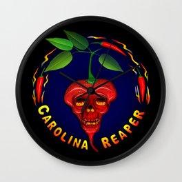 Carolina Reaper Skull Wall Clock