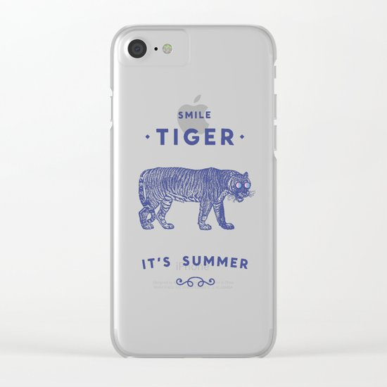 Smile Tiger, it's Summer Clear iPhone Case