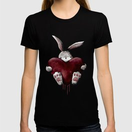 Gothic Bloody Love Bunny T-shirt