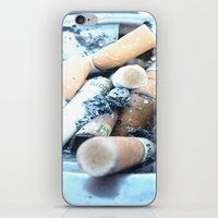 cigarettes iPhone & iPod Skins featuring Cigarettes by Beatrice