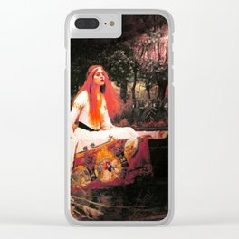 Vivid Retro - The Lady of Shalott Clear iPhone Case