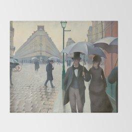 Gustave Caillebotte - Paris Street; Rainy Day Throw Blanket