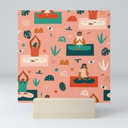Yoga girls Mini Art Print