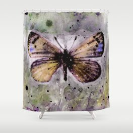Butterfly Prayers No. 1C by Kathy Morton Stanion Shower Curtain