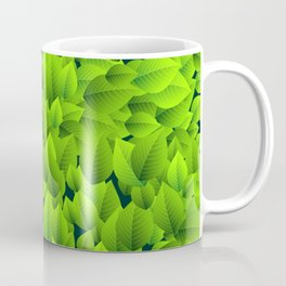 Green leaves pattern Coffee Mug