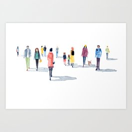 Out for a casual stroll Art Print