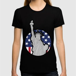 liberty, statue, american, usa, flag T-shirt
