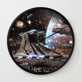 All out War for Stars Wall Clock