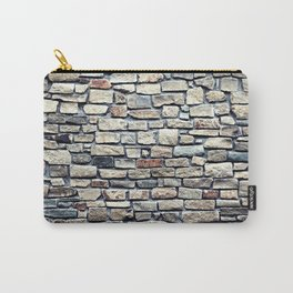 Grey tiles brick wall Carry-All Pouch
