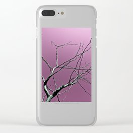 Reaching Violet Clear iPhone Case