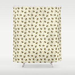 Busy Bees Pattern Shower Curtain