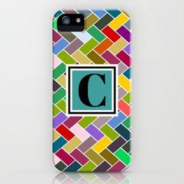 C Monogram iPhone Case