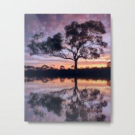 Sunset reflection - Kambalda, Western Australia Metal Print