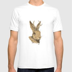 The Jackalope Mens Fitted Tee MEDIUM White