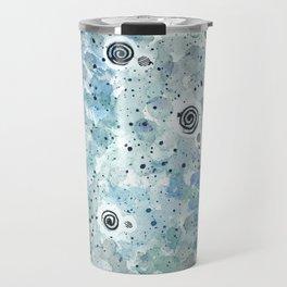 Watercolor Pattern Soft Blue Travel Mug