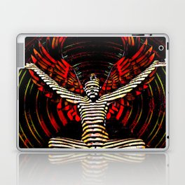 0395s-PDJ Sensual Angel with Red Wings Woman Empowered as Succubus Laptop & iPad Skin