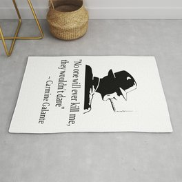 Mobster quote Rug