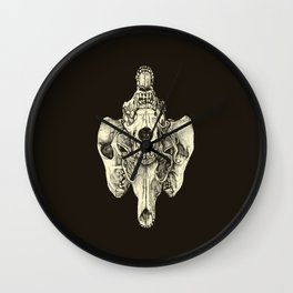 Coyote Skulls - Black and White Wall Clock