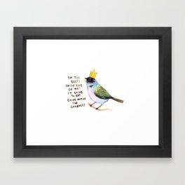 trash bird self affirmations Framed Art Print
