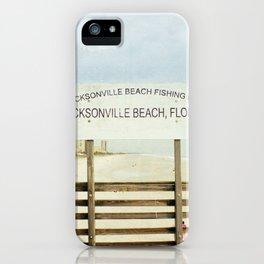 Jacksonville Beach Pier Sign iPhone Case