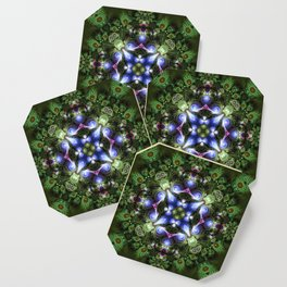 Fractal Forest Indigo Coaster
