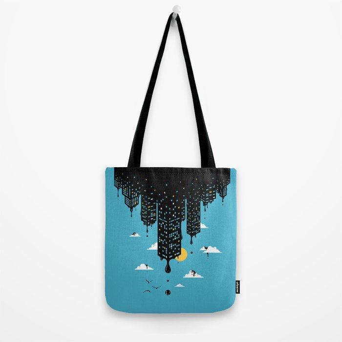 Melting Skyline Tote Bag