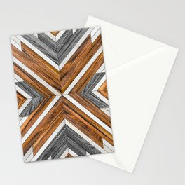 Tribal Wood Stationery Cards