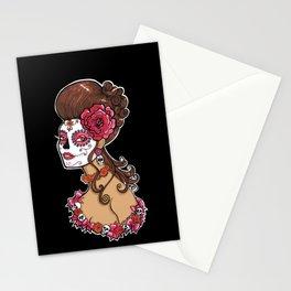 Glamorous Sugar Skull Girl Stationery Cards