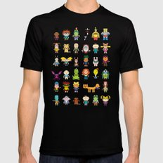 90s Nicktoons Black 2X-LARGE Mens Fitted Tee