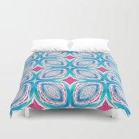 clover Duvet Covers featuring Clover by Truly Juel
