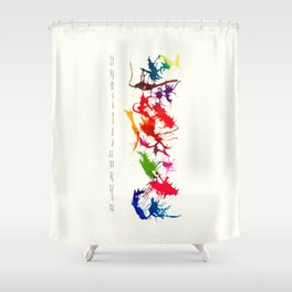 inferred  Shower Curtain