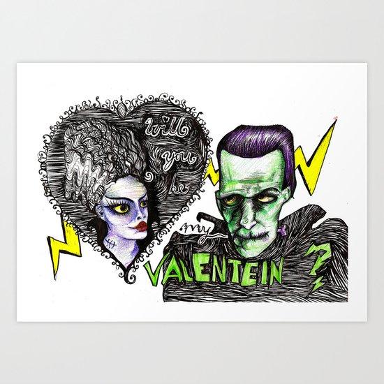Be my Valentein?  Art Print