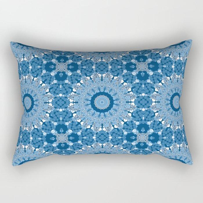 White blue kaleidoscope . Rectangular Pillow