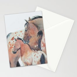Mother's Love Appaloosa Horses Stationery Cards