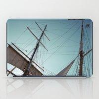 pirate ship iPad Cases featuring Pirate Ship by Amanda Novocin Bee