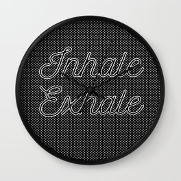 Inhale Exhale. Edges And Dots Wall Clock