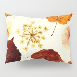 Pressed flowers and leaves Pillow Sham