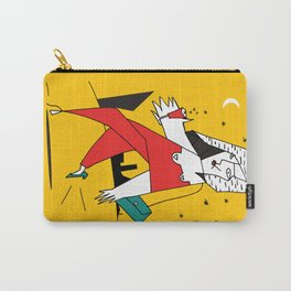 fashion woman and night city  Carry-All Pouch