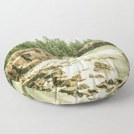 Acadia National Park Maine Rocky Beach Floor Pillow