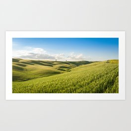 pienza landscape in val d'orcia - italy Art Print