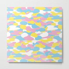 Cute camouflage pattern Metal Print