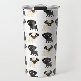 Pug Buddies. Adorable Pug Pattern Travel Mug