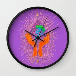 Pizza Hands Wall Clock