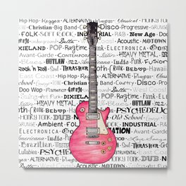 Music for the Soul & Spirit - Red Series Metal Print