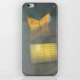 Marie's Golden Cue ~ Chicago Billiards iPhone Skin