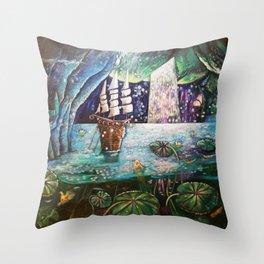 Lake Languish Throw Pillow