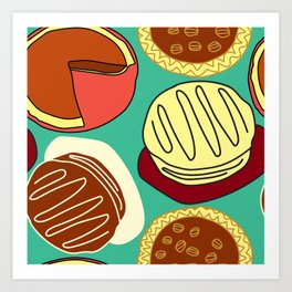 Cakes and Pies! Art Print